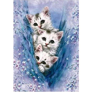 2019 Oil Painting Style Pet Cute Cats Picture 5d Diy Diamond Painting Kits VM7256 - 444
