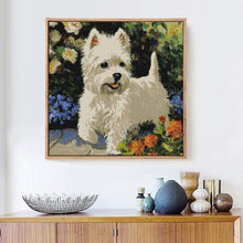 Load image into Gallery viewer, Oil Painting Style Rhinestone Dog Full Drill - 5D Diy Diamond Painting Kits VM6002 - NEEDLEWORK KITS