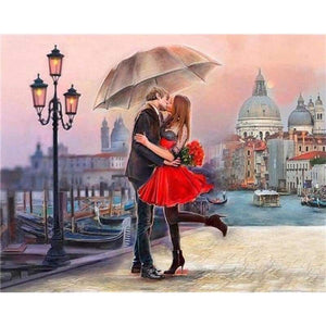 Oil Painting Style Romantic Lover Full Drill - 5D Diy Diamond Painting Cross Stitch Kits VM3634 - NEEDLEWORK KITS