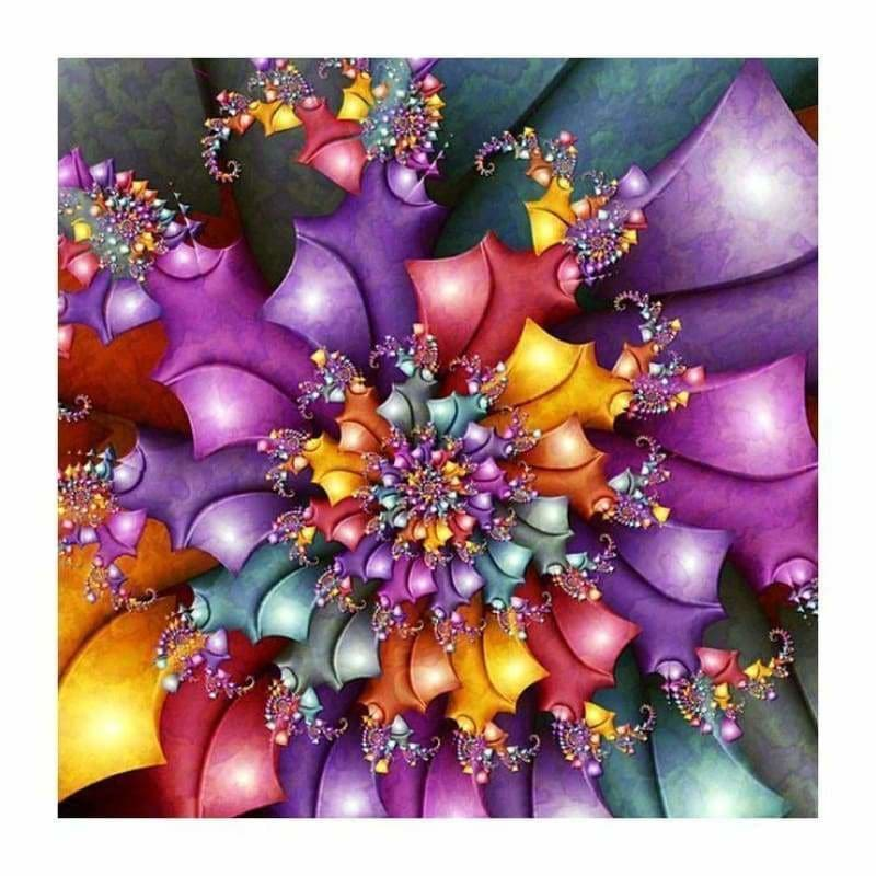 Rhinestone Art Abstract Pattern Full Drill - 5D Diy Crystal Diamond Painting Kits BQ5034