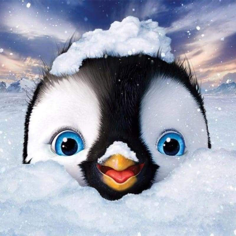 2019 Rhinestone Painting Cartoon Cute Penguin 5d Diy Diamond Painting Kits VM4177
