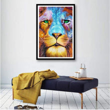 Load image into Gallery viewer, Special Animal Fierce Lion Full Drill - 5D Diy Diamond Painting Kits VM7790 - NEEDLEWORK KITS