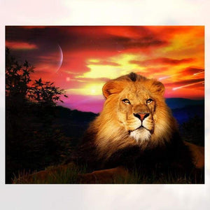 Special Animal Lion Portrait Full Drill - 5D Diy Diamond Painting Kits VM7800 - NEEDLEWORK KITS
