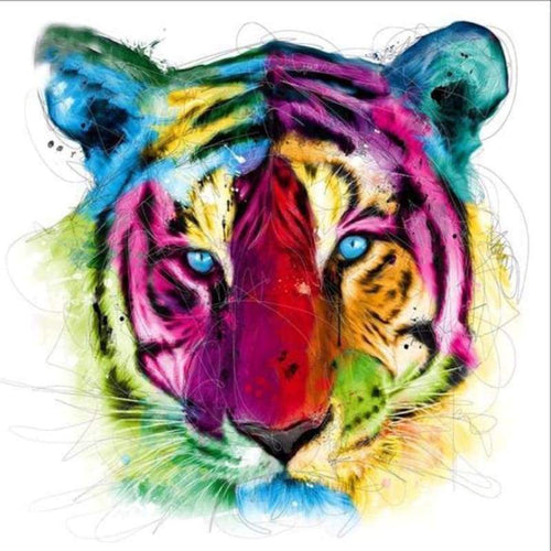 2019 Special Animal Tiger Picture 5d Diy Cross Stitch Diamond Painting Kits QB5065