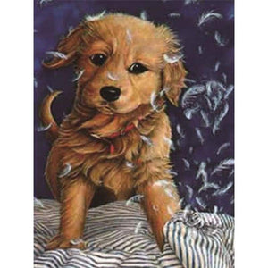 Special Cheap Cute Dog Picture Full Drill - 5D Diy Diamond Painting Kits VM8271 - NEEDLEWORK KITS