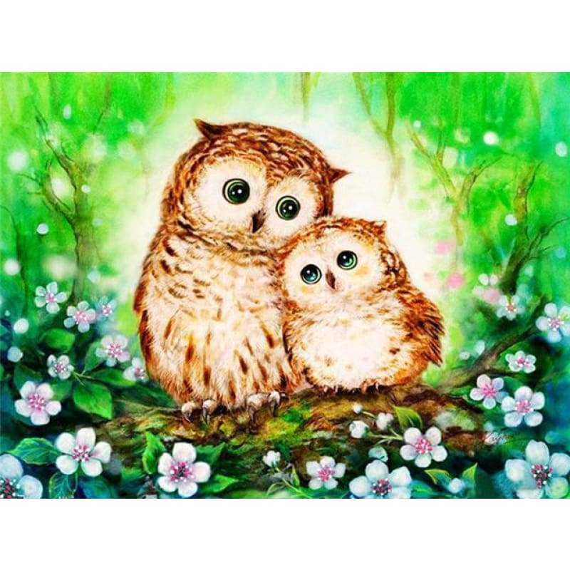 Special Cheap Cute Owl Animal Full Drill - 5D Diy Diamond Painting Kits VM8200 - NEEDLEWORK KITS