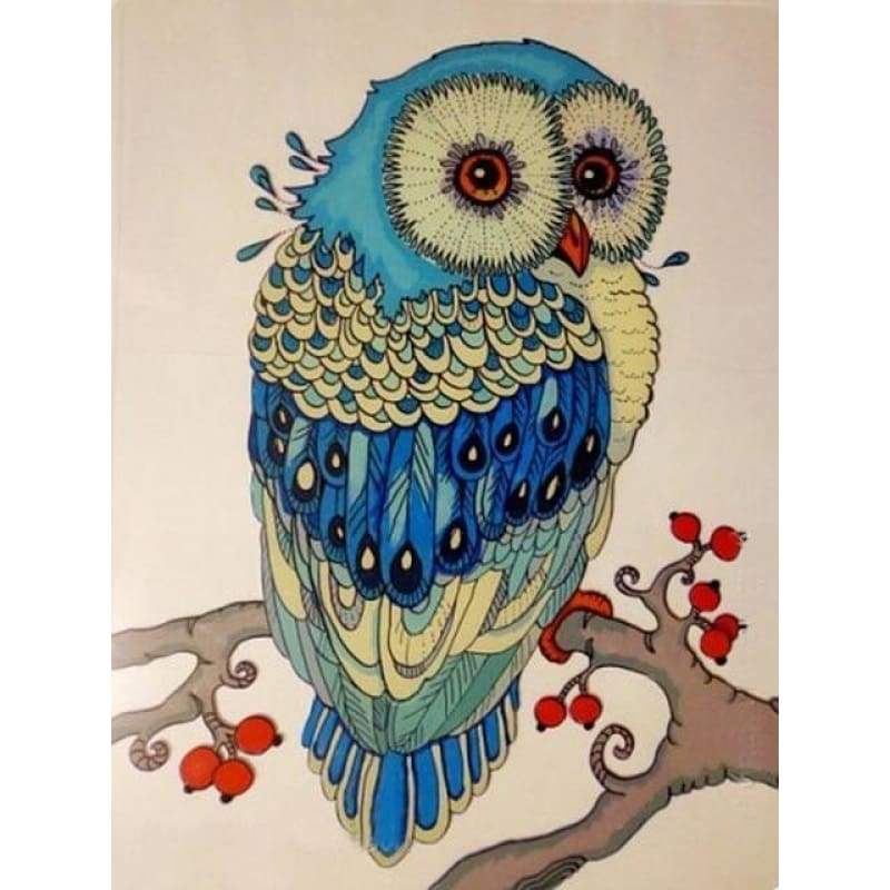 Special Cheap Cute Owl Picture Full Drill - 5D Diy Diamond Painting Kits VM8202 - NEEDLEWORK KITS