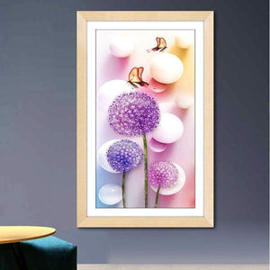 2019 Special Cheap Modern Art Lavender Diy Dandelion Diamond Embroidery VM1077 - NEEDLEWORK KITS