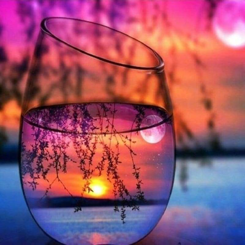 Special Colorful Bottles And Sunset Full Drill - 5D Diy Diamond Painting Kits VM7841 - NEEDLEWORK KITS
