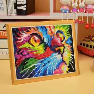 Special Colorful Cat Portrait Diamond Painting Cross Stitch Kits VM0094 - NEEDLEWORK KITS
