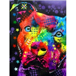 2019 Special Colorful Dog 5d Diamond Painting Cross Stitch VM1935 - 3