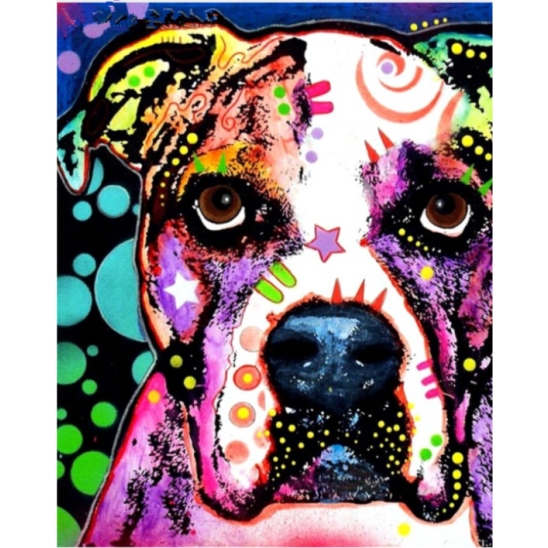 Special Colorful Dog Full Drill - 5D Diy Crystal Painting VM1930 - NEEDLEWORK KITS