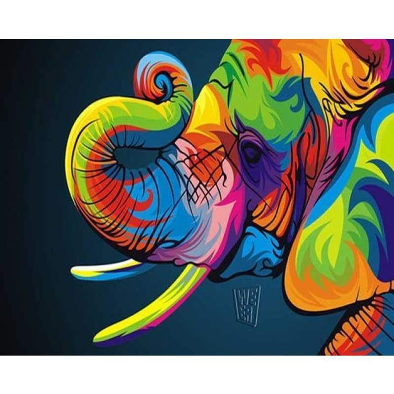 2019 Special Colorful Elephant Diy 5d Diamond Embroidery Kits VM3526 - NEEDLEWORK KITS