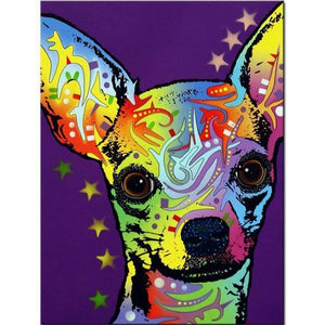 Special Full Square Drill Colorful Dog Full Drill - 5D Diy Diamond Painting Kits VM09525 - NEEDLEWORK KITS