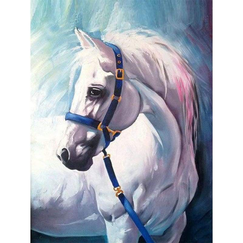 Full Drill - 5D DIY Diamond Painting Kits Special White Horse - NEEDLEWORK KITS