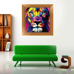 5D DIY Diamond Painting Kits Cartoon Special Colorful Lion - 2