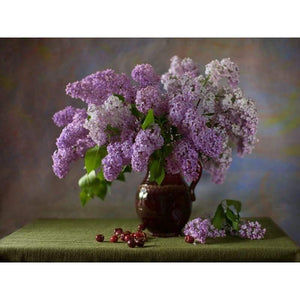 Full Drill - 5D DIY Diamond Painting Kits Pink And Lavender Flowers - NEEDLEWORK KITS