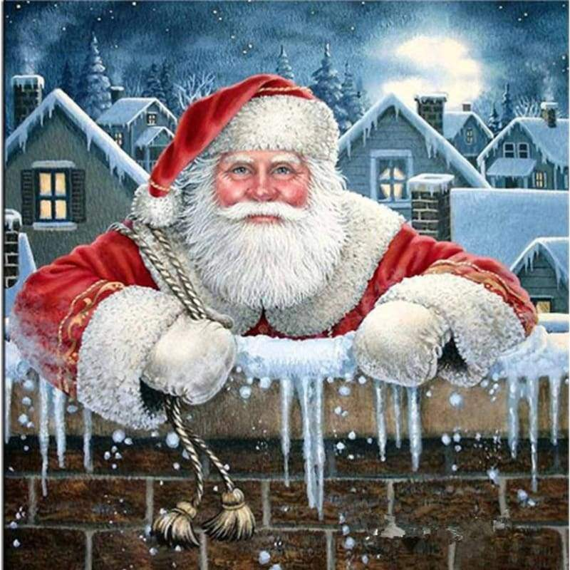 5D DIY Diamond Painting Kits Cartoon Santa Claus