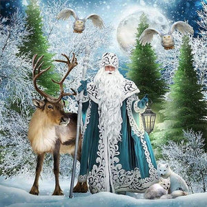 Full Drill - 5D DIY Diamond Painting Kits Special Winter Santa Claus - NEEDLEWORK KITS