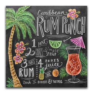 5D DIY Diamond Painting Kits Rum Punch Blackboard