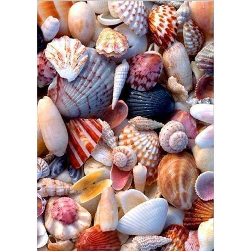 Full Drill - 5D DIY Diamond Painting Kits Summer Beach Shell Pebble - NEEDLEWORK KITS