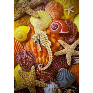 Full Drill - 5D DIY Diamond Painting Kits Summer Beach Starfish Shell Pebble - NEEDLEWORK KITS