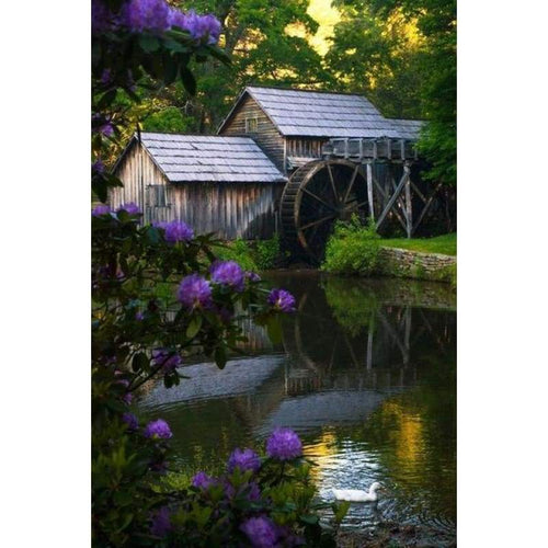 5D DIY Diamond Painting Kits Summer Landscape Cottage - 7