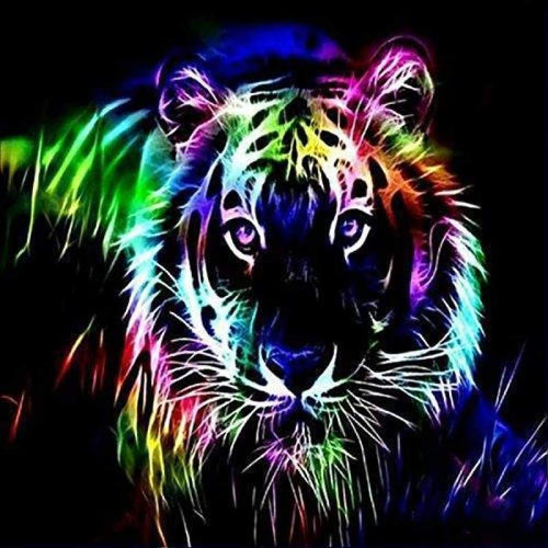 5D DIY Diamond Painting Kits Different Color Tiger - Z0