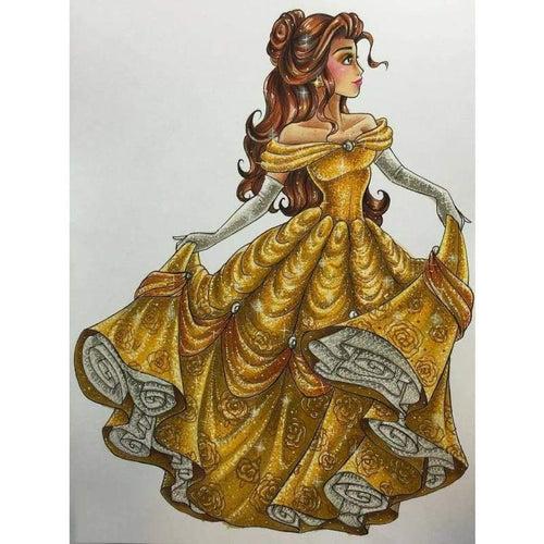 Full Drill - 5D DIY Diamond Painting Kits Cartoon Elegant Princess - NEEDLEWORK KITS
