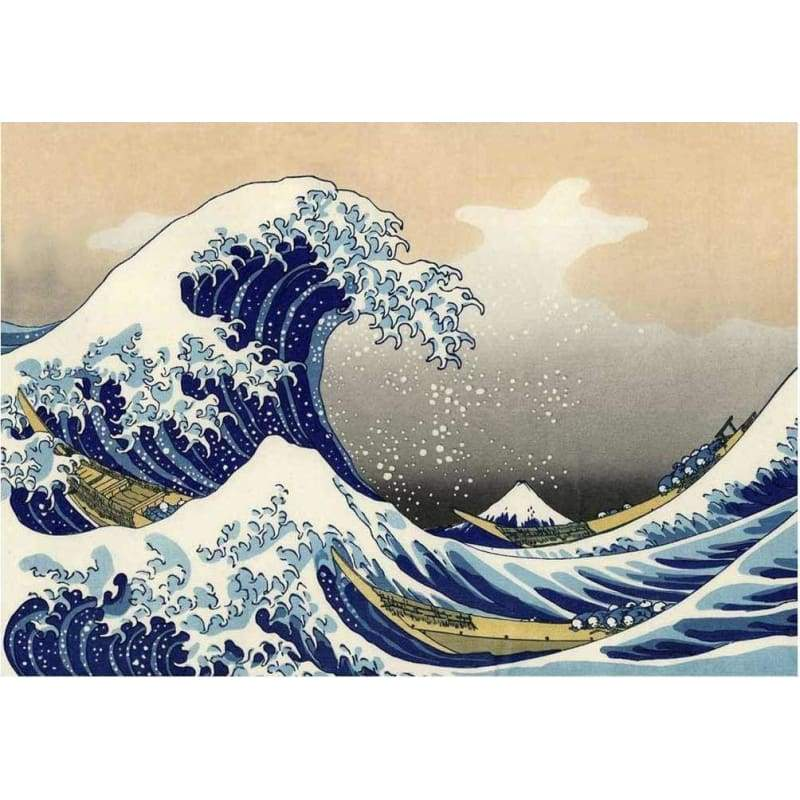 5D DIY Diamond Painting Kits Cartoon Sea Waves - 3