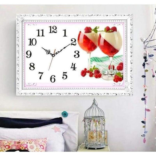 5D DIY Diamond Painting Kits Fruit Goblet Clock - 4