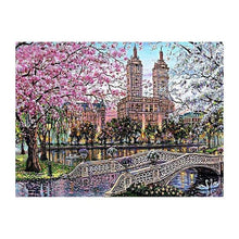 Load image into Gallery viewer, Full Drill - 5D DIY Diamond Painting Kits Watercolor Landscape Town - NEEDLEWORK KITS