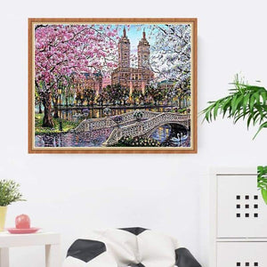 Full Drill - 5D DIY Diamond Painting Kits Watercolor Landscape Town - NEEDLEWORK KITS