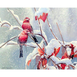 Full Drill - 5D DIY Diamond Painting Kits Winter Artistic Snow Birds - NEEDLEWORK KITS