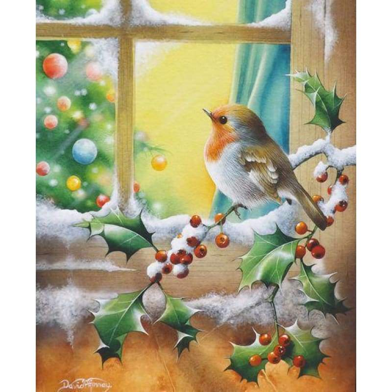 Full Drill - 5D DIY Diamond Painting Kits Winter Artistic Snow Bird - NEEDLEWORK KITS