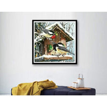 Load image into Gallery viewer, Full Drill - 5D DIY Diamond Painting Kits Winter Canvas Animal Cute Bird - NEEDLEWORK KITS