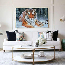 Load image into Gallery viewer, Full Drill - 5D DIY Diamond Painting Kits Winter Cool Tiger - NEEDLEWORK KITS