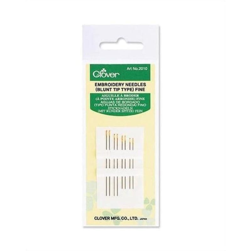 Clover Embroidery Fine Needles (Blunt Tip type) - Accessories