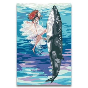 Whales Diy Paint By Numbers Kits PBN30011 - NEEDLEWORK KITS