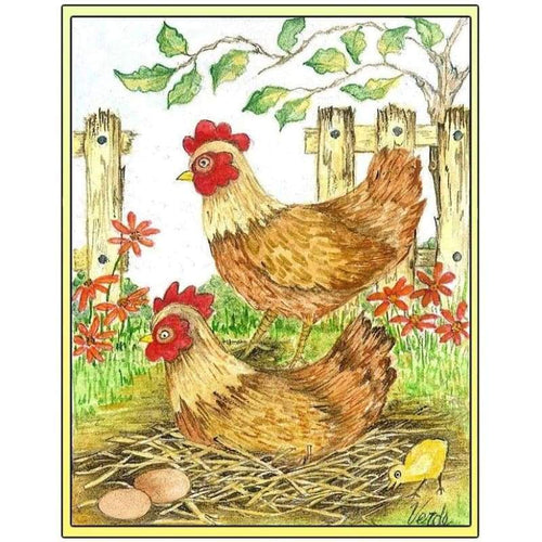Cheerful Chickens - NEEDLEWORK KITS