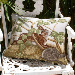 Hare And Tortoise - Tapestry And Needlepoint
