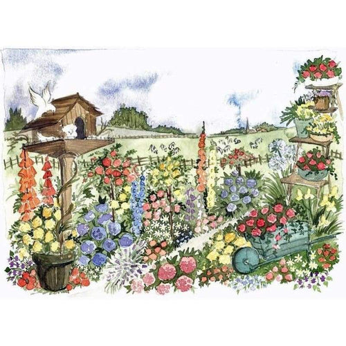 Wheelbarrow In The Garden - Embroidery Patterns