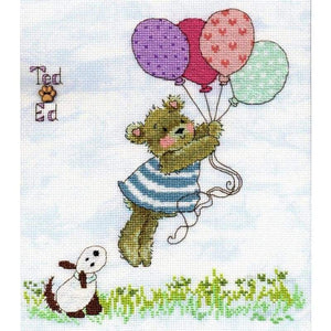 Ted & Ed - Up, Up And Away - NEEDLEWORK KITS