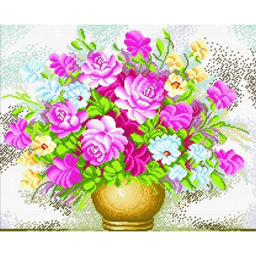 Vase Of Flowers - Stamped Cross Stitch Kits