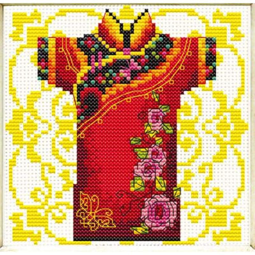 Male Geisha Rose - Stamped Cross Stitch Kits