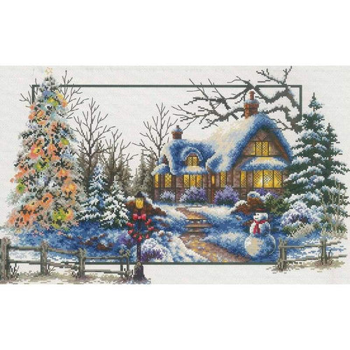 Winter Cottage - Stamped Cross Stitch Kits