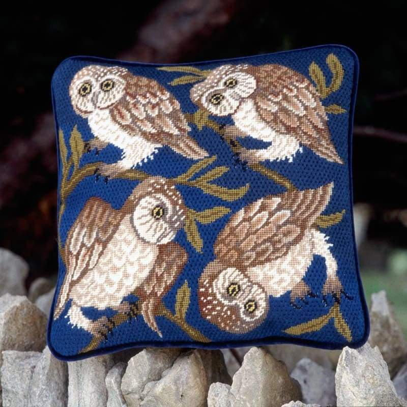Owls - Tapestry And Needlepoint