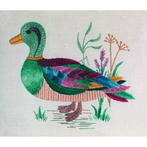 Pink and green Duck - NEEDLEWORK KITS