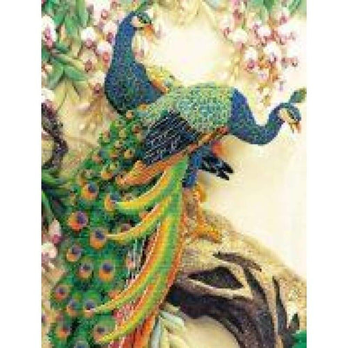 Peacock Majesty - Stamped Cross Stitch Kits