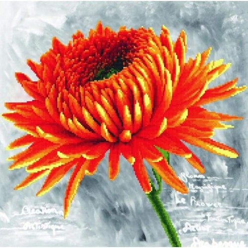Orange Dahlia - Stamped Cross Stitch Kits